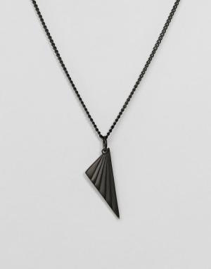 Vitaly Матовое черное ожерелье с подвеской Nivo. Цвет: черный