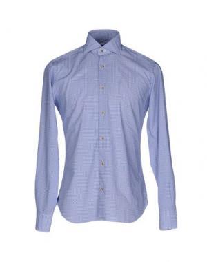 Pубашка DANDYLIFE by BARBA. Цвет: лазурный