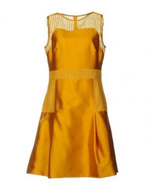 Короткое платье LELA ROSE. Цвет: охра
