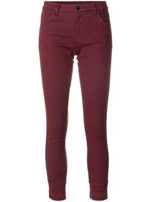 Укороченные брюки Ines Pence. Цвет: розовый и фиолетовый