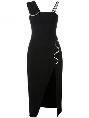 Платье с разрезом David Koma. Цвет: чёрный