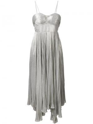 Платье Nakia Maria Lucia Hohan. Цвет: металлический