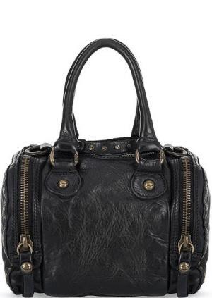 Маленькая кожаная сумка черного цвета Campomaggi. Цвет: черный