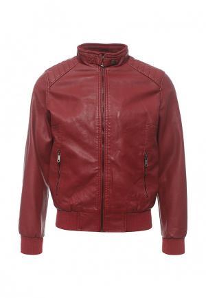 Куртка кожаная B.Men. Цвет: красный