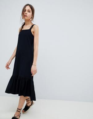 ASOS Летнее платье миди DESIGN. Цвет: черный