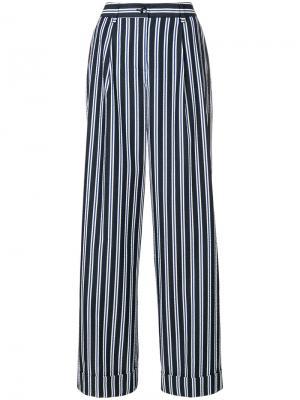 Striped wide leg trousers P.A.R.O.S.H.. Цвет: синий