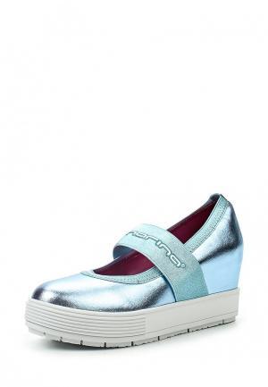 Туфли Fornarina. Цвет: голубой