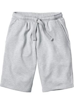 Трикотажные шорты стандартного покроя (серый меланж) bonprix. Цвет: серый меланж