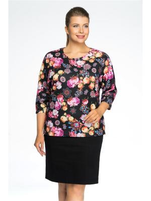 Блузка Pretty Woman. Цвет: черный, розовый, светло-оранжевый