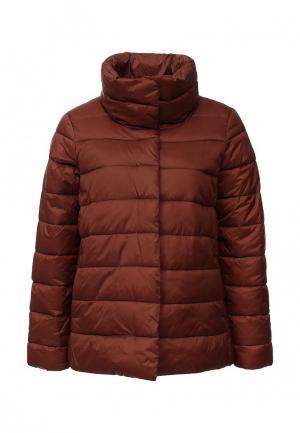Куртка утепленная United Colors of Benetton. Цвет: коричневый