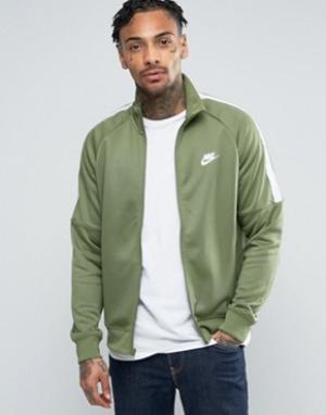 Nike Зеленая спортивная куртка Tribute 678626-387. Цвет: зеленый