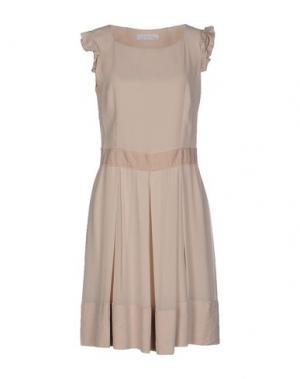 Короткое платье KRISTINA TI. Цвет: бежевый