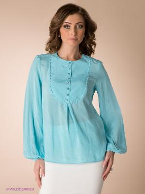 Блузка Yulia Dushina. Цвет: светло-голубой