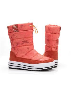 Дутики King Boots. Цвет: коралловый