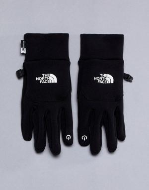 The North Face Черные флисовые перчатки. Цвет: черный