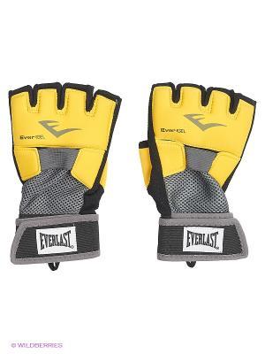 Перчатки гелевые Everlast. Цвет: желтый