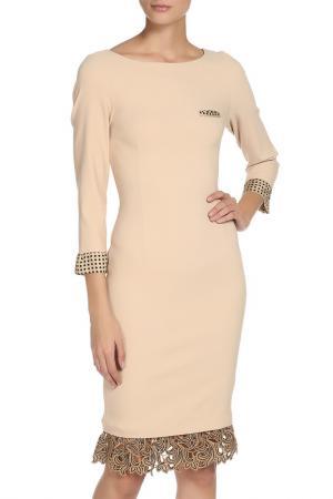 Прилегающее платье с отделкой кружевом Cristina Effe. Цвет: 2015-6a 5, cammello