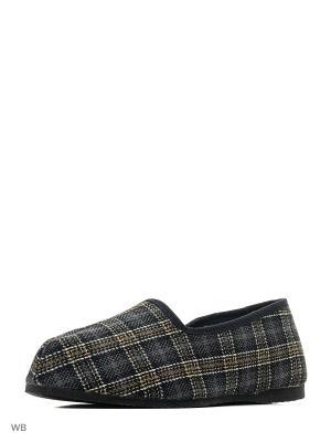 Тапки ШК обувь. Цвет: серый, желтый