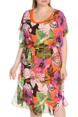 Платье Бали BlagoF. Цвет: коралловый, оранжевый