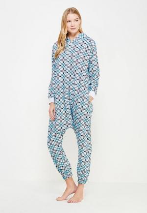 Пижама HandyWear. Цвет: голубой
