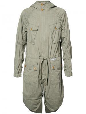 Пальто в стиле милитари Undercover. Цвет: зелёный