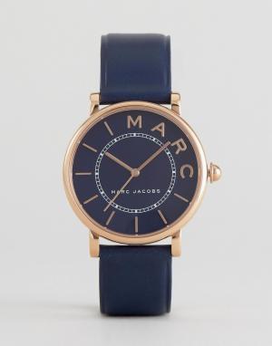Marc Jacobs Часы с темно-синим кожаным ремешком Classic MJ1534. Цвет: темно-синий