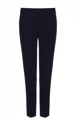 Укороченные брюки прямого кроя BOSS. Цвет: темно-синий