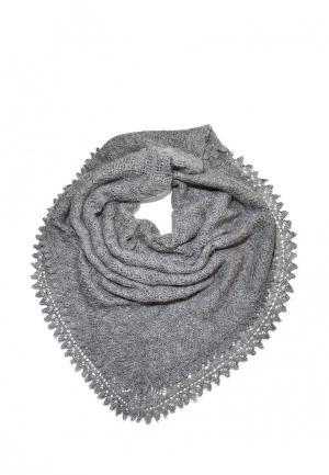 Платок ОренбургШаль. Цвет: серый