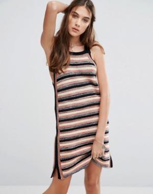 Free People Облегающее платье Retro. Цвет: черный