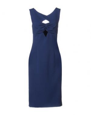 Платье до колена DENNY ROSE. Цвет: пастельно-синий