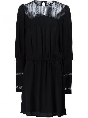Платье с прозрачной панелью Talitha. Цвет: чёрный