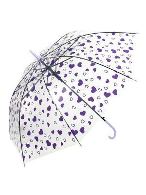 Зонт Сердечки, 53 см. Amico. Цвет: фиолетовый