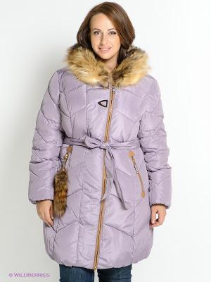 Пальто X'cluSIve. Цвет: сиреневый