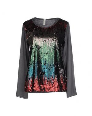 Блузка SOUVENIR. Цвет: свинцово-серый