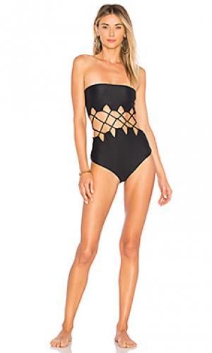 Слитный купальник mundaka Acacia Swimwear. Цвет: черный