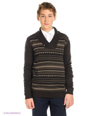 Пуловер SELA. Цвет: коричневый, бежевый, черный