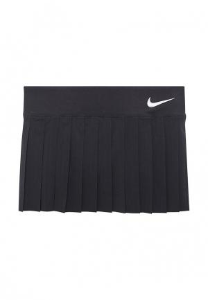 Юбка Nike. Цвет: черный