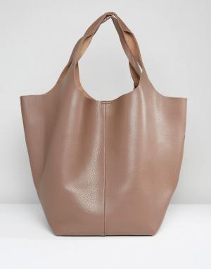 Glamorous Большая сумка. Цвет: бежевый
