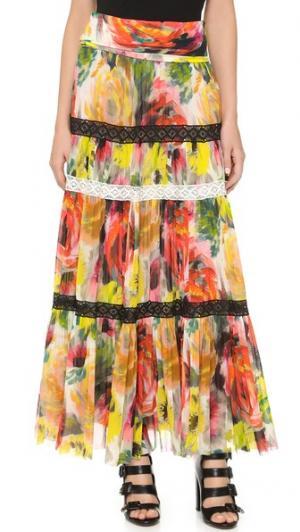 Принтованная юбка Fuzzi. Цвет: мульти