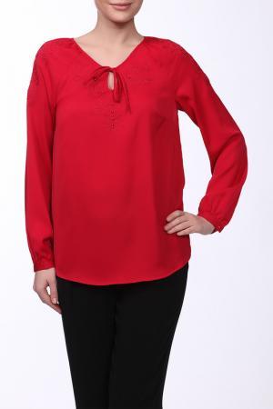 Блузка E.LEVY. Цвет: красный