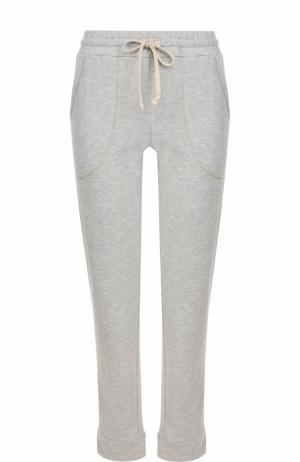 Укороченные брюки прямого кроя с карманами Deha. Цвет: серый