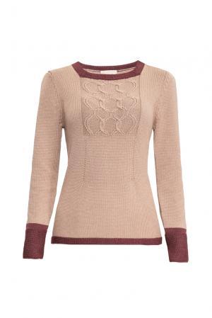 Джемпер из шерсти с шелком 154533 Sweet Sweaters. Цвет: бежевый