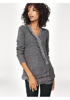 Пуловер Linea Tesini. Цвет: серый