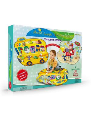 Звуковой коврик Автобус-Зоопарк и Человек-Оркестр Знаток. Цвет: синий, желтый, красный