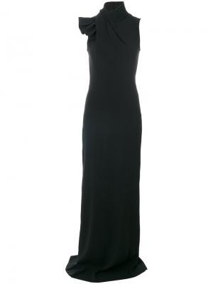 Длинное платье с воротником-шалькой Dsquared2. Цвет: чёрный