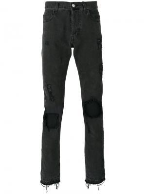 Состаренные джинсы Misbhv. Цвет: чёрный