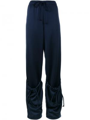 Спортивные брюки с завышенной талией и карманом JW Anderson. Цвет: синий