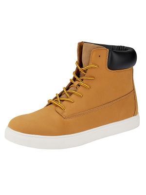 Ботинки Oodji. Цвет: желтый, черный