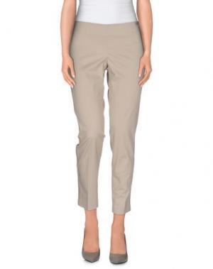 Повседневные брюки REBEL QUEEN. Цвет: голубиный серый