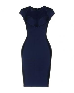 Короткое платье HERVE' L. LEROUX. Цвет: темно-синий